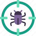 serach, web, for, hosting, bugs, data, data storage icon