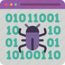 bug, data, data storage, fixing, hosting, network server, web icon