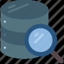 data, data storage, database, hosting, network server, scanning, web icon
