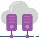 cloud, data, data storage, hosting, network, network server, web icon