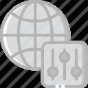 control, data, data storage, hosting, network server, pannel, web icon