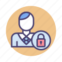authorization, manager, security icon