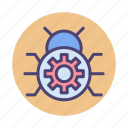antivirus, bug, bug fix, bug fixing, fixing, spider, virus icon
