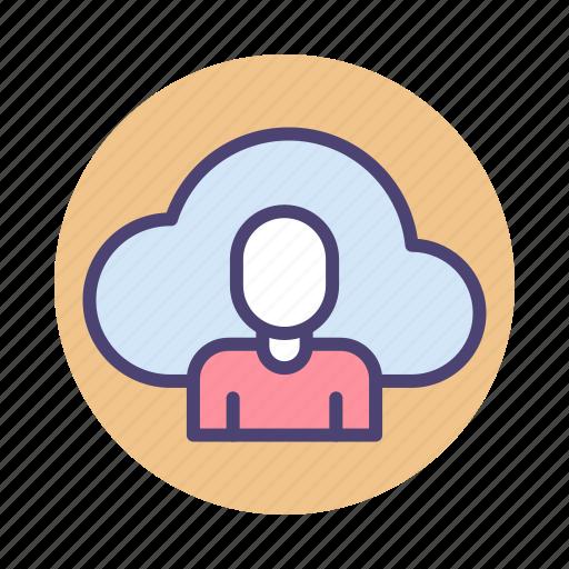 cloud client, cloud user icon