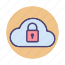 cloud, cloud security, security icon
