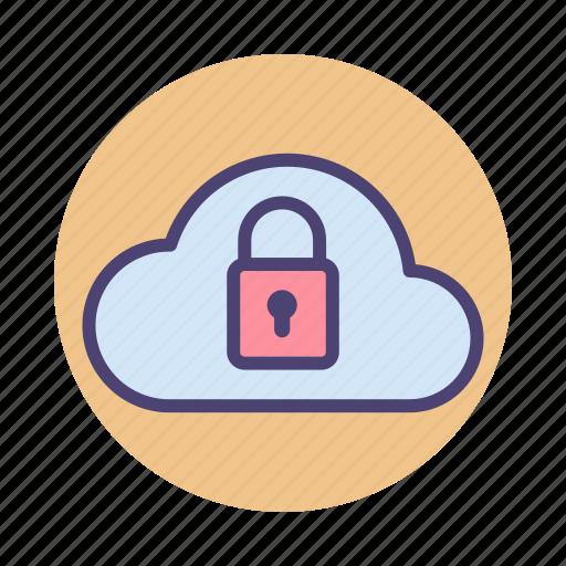 cloud, cloud security, security icon