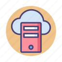 cloud, cloud hosting, cloud server, server icon