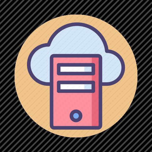 cloud, cloud hosting, cloud server, server icon