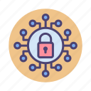 cyber security, encryption, locked, passcode, password icon