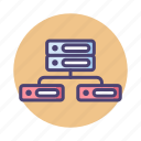 db, connection, database, hosting, server icon