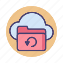 backup, backup data, cloud backup, data backup, data recovery icon
