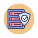 data protection, data security, hosting protection, hosting security, server protection icon