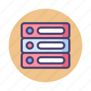 database, hosting, server, storage icon