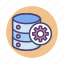 data, database, management, server, storage icon