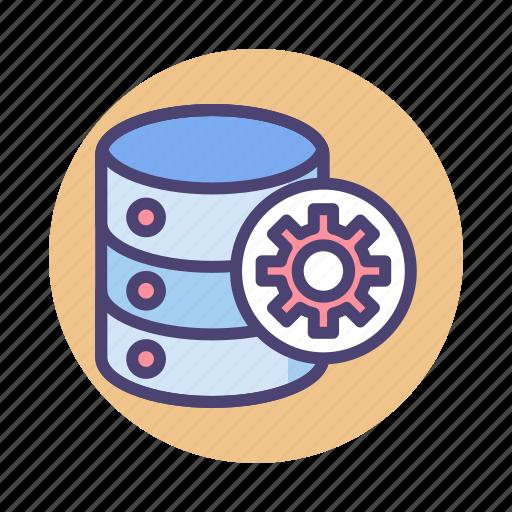 data, database, management, server, storage icon