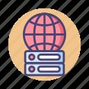database, global, hosting, international, server, worldwide icon