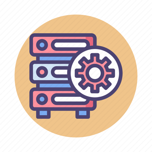 database, dedicated server, hosting, server icon