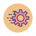 cog, fast, lazy loading, loading, processing icon