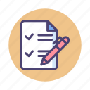 checklist, feedback, feedback form, form icon
