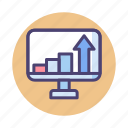 analysis, chart, diagram, graph, growth, increase traffic, report icon