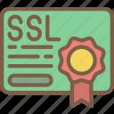certificate, data, data storage, hosting, network server, ssl, web icon