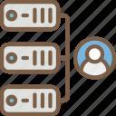 data, data storage, hosting, network server, shared, web icon
