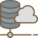 cloud, data, data storage, hosting, network server, web icon