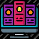 comparison, data, data storage, hosting, network server, table, web icon