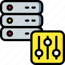 control, data, data storage, hosting, pannel, server, web icon