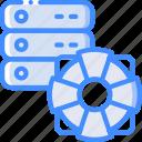 data, data storage, help, hosting, network, network server, web icon