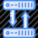 clone, data, data storage, hosting, network server, server, web icon