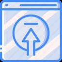 data, data storage, file, hosting, network server, upload, web icon