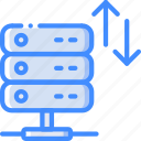 bandwidth, data, data storage, hosting, network server, web icon