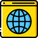 data, data storage, hosting, network server, page, web icon