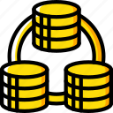 data, data storage, database, hosting, network server, replication, web icon