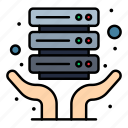 hosting, internet, server, shared icon
