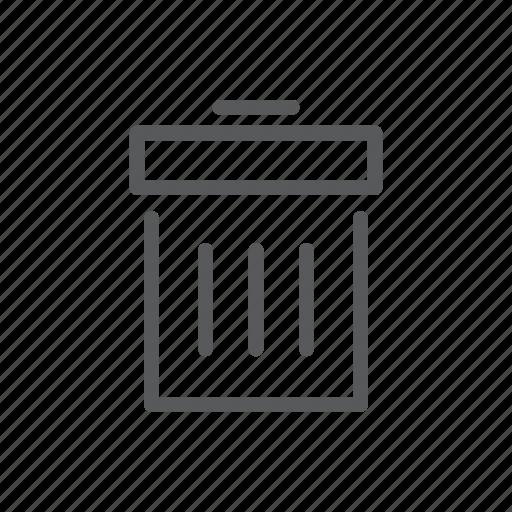 cancle, computer, delete, line icon, mobile, trash, web icon