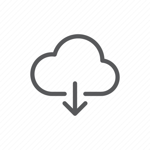 cloud, computer, down, download, mobile, share, web icon