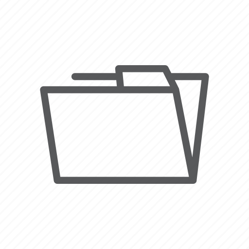 computer, device, folder, mobile, open, save, web icon
