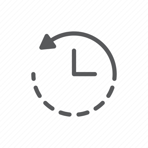clock, computer, replay, reset, time icon
