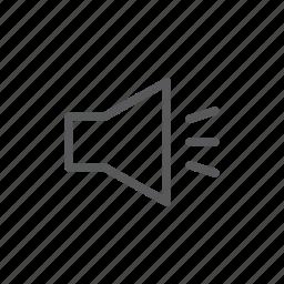 computer, music, speaker, volume, volume up icon
