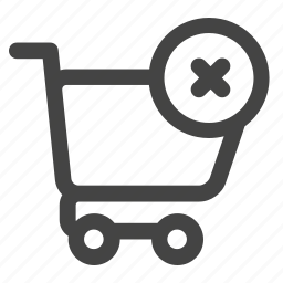 buy, buy online, cancel, cart, clear, ecommerce, store icon