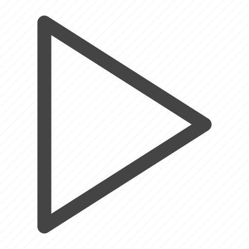 arrow, direction, media, multimedia, music, play icon