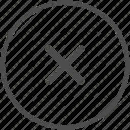 alert, attention, danger, error, reject, warning, x icon