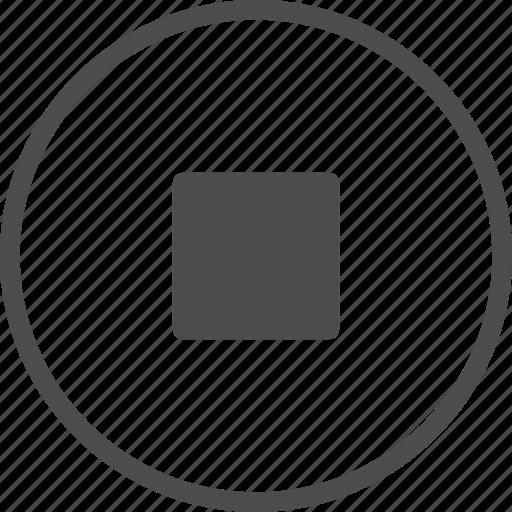 control, media, multimedia, player, stop icon