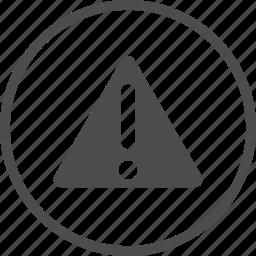 alert, careful, caution, danger, hazard, sign, warn icon