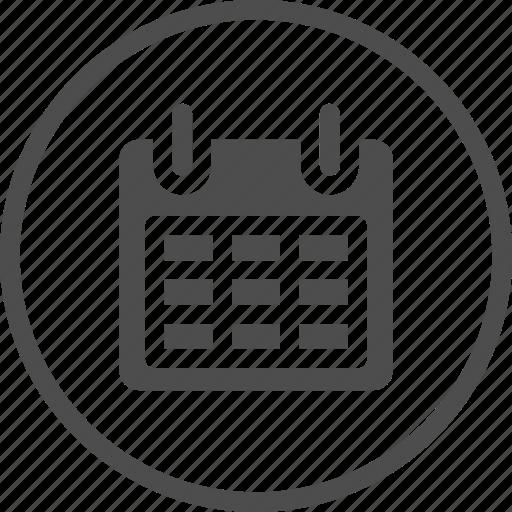 agenda, binder, business, calendar, month, set, web icon