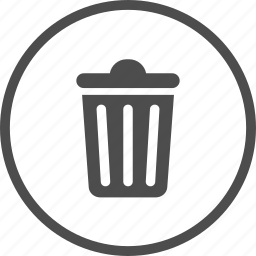 bin, delete, recycle, recycling, remove, trash, trashcan icon