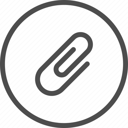 attach, attachement, attachment, email, inbox, staple icon