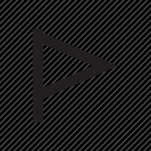 flag, goal, target icon